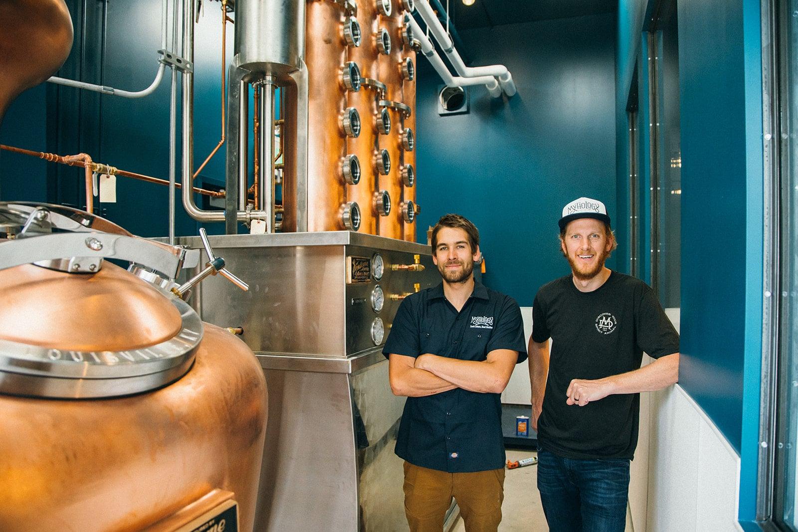 Mythology Distillery Head Distiller Scott Coburn & Owner Scott Yeates