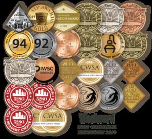 Mhythology Distillery Awards and Medals
