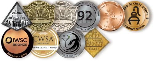 Mythology Hell Bear American Whiskey Awards and Medals