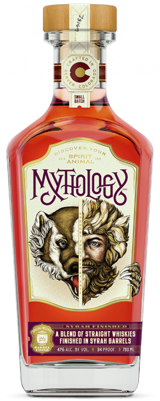 Mythology Syrah Finished Whiskey - Bottle Front