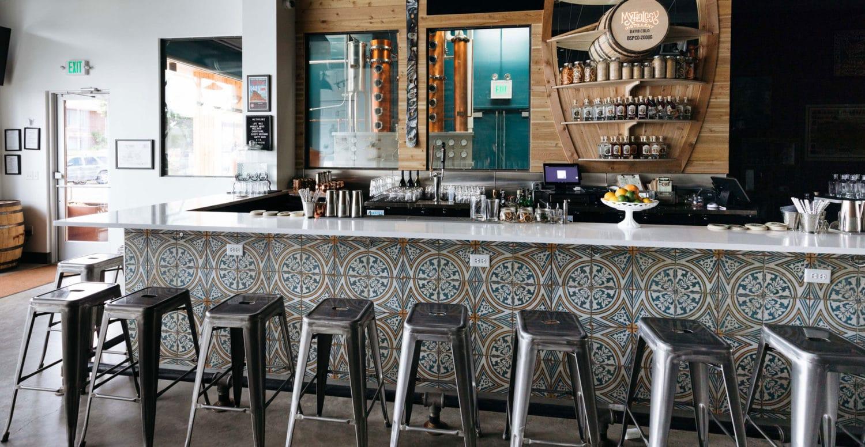 Mythology Distillery - Interior of Cocktail Bar + Distillery